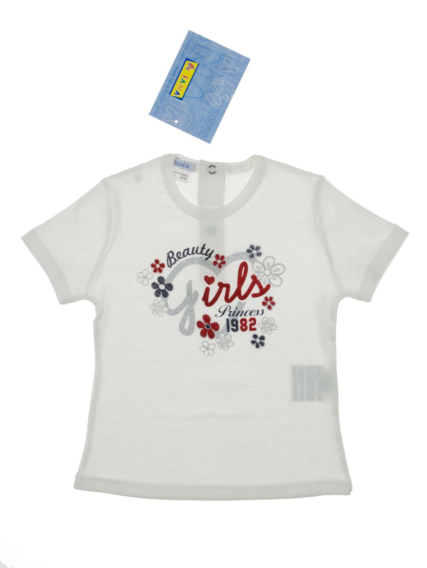 Купити Біла зручна футболка для дівчинки  34c339cb29dbe